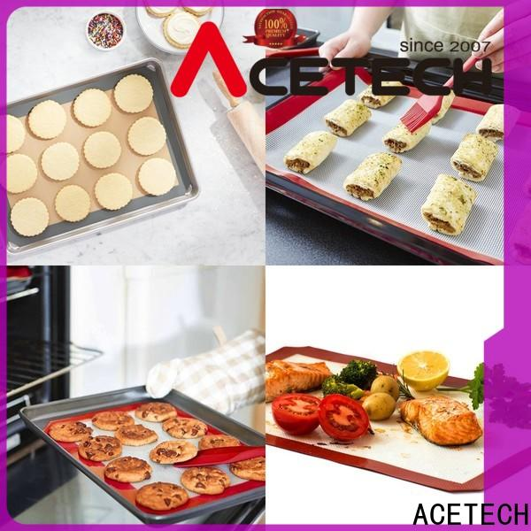 ACETECH size non stick silicone baking mat supplier for macarons
