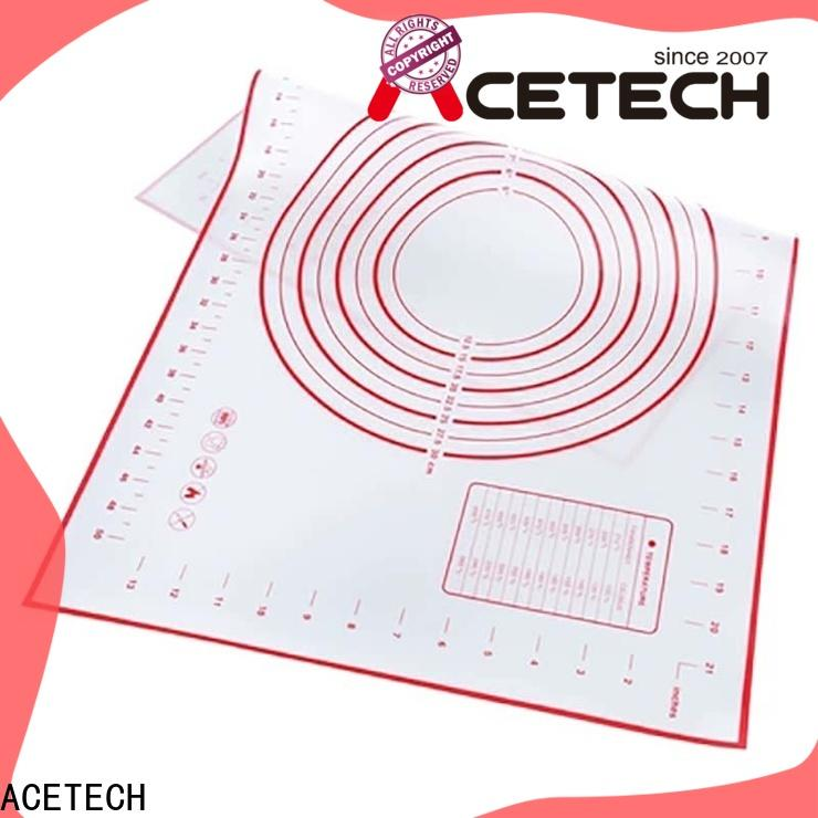 ACETECH hygienic custom silicone mats easy to clean for cooking