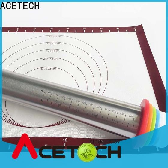 ACETECH rolling steel rolling pin manufacturer for pizza
