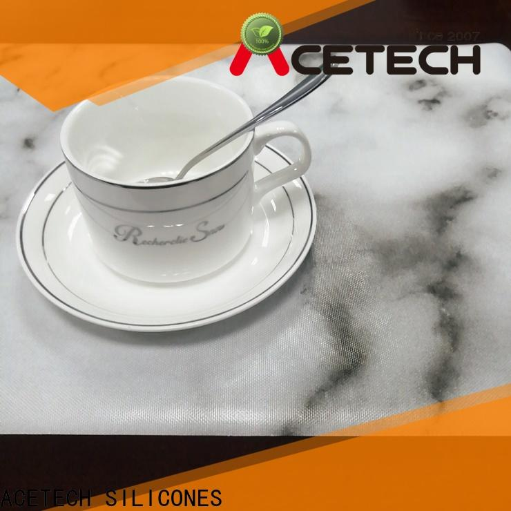 ACETECH flexible silicone placemats factory price for dining room