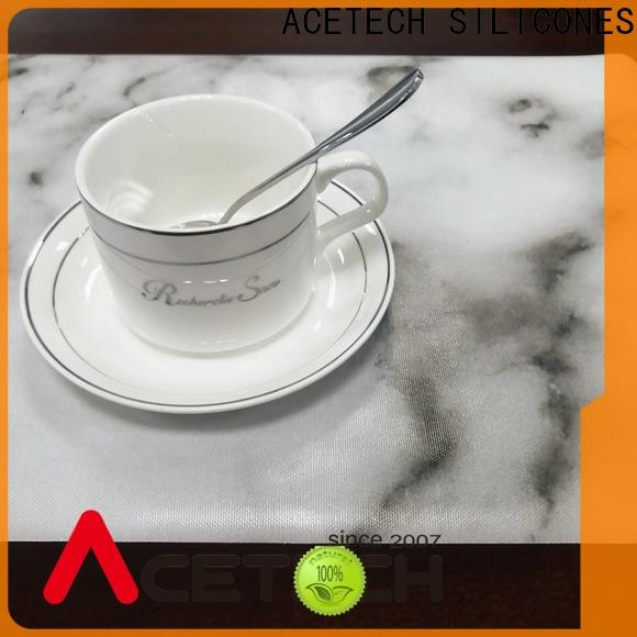 ACETECH oil resistance silicone placemat baby wholesale for table
