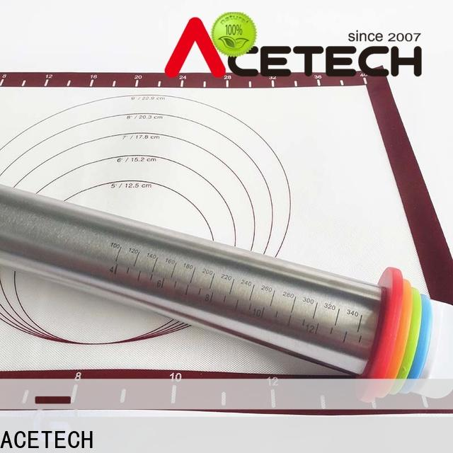 ACETECH good quality stainless steel rolling pin online for dumpling wrapper