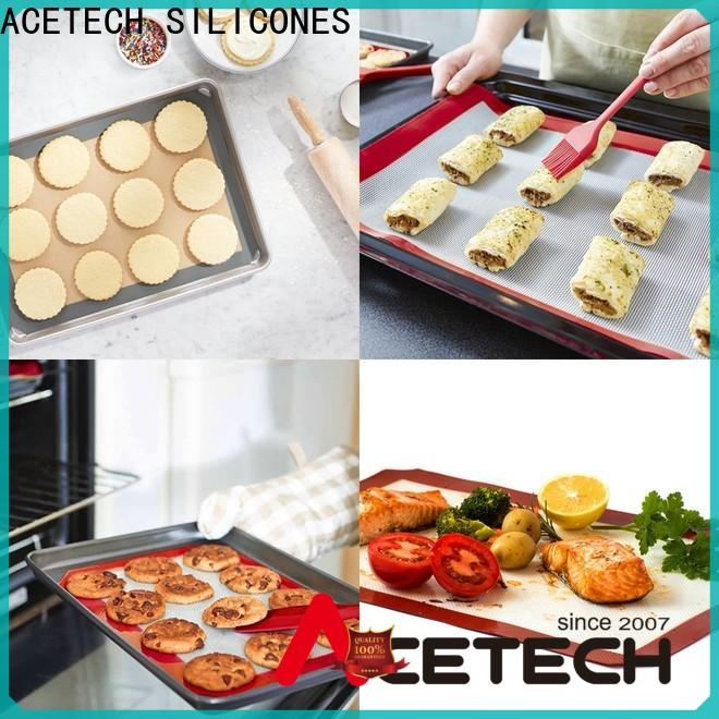 ACETECH foldable custom silicone mats easy to clean for macarons