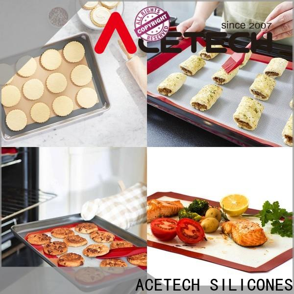 ACETECH thin silicone baking mat supplier for cookie