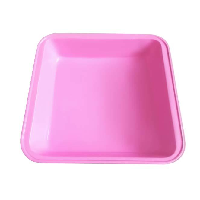 Custom square shape cake baking pan silicone surface