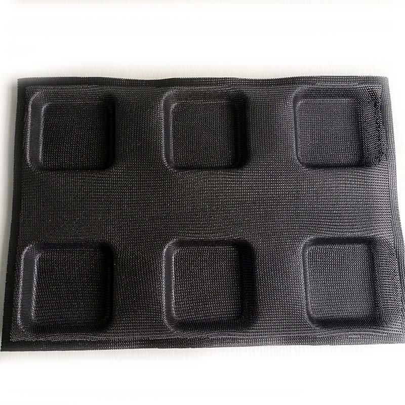 durable silicone dessert molds square for muffin-1