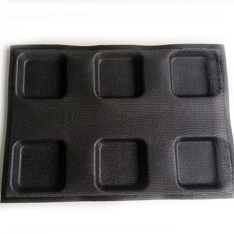 durable silicone dessert molds square for muffin