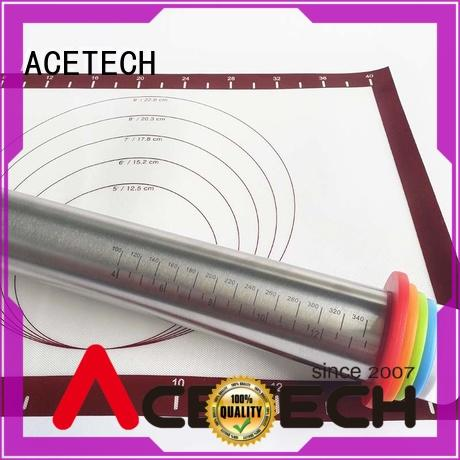 ACETECH thickness stainless steel rolling pin online for dumpling wrapper