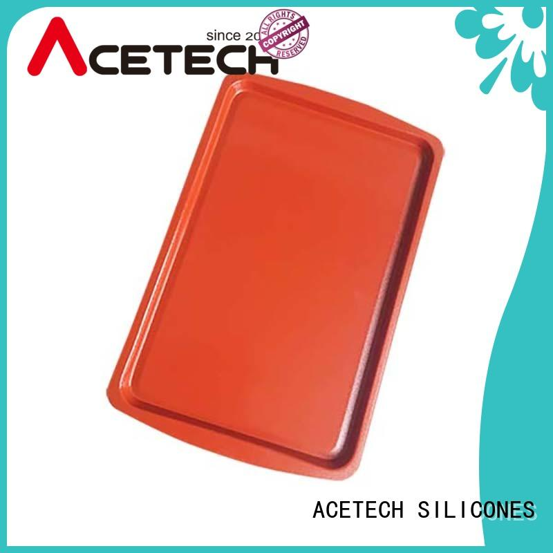 ACETECH coated silicone baking tray easy to clean for cake