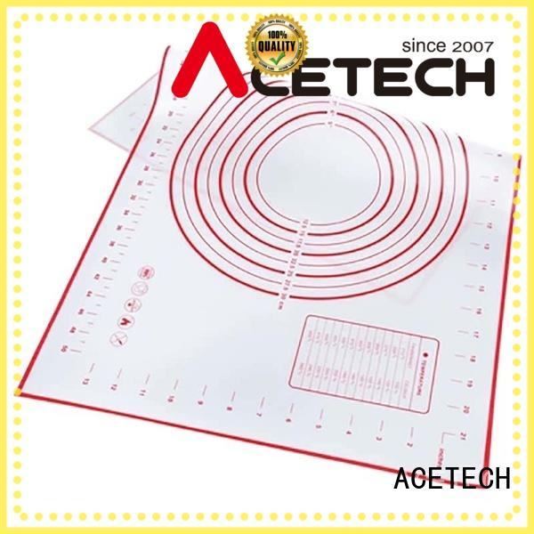 ACETECH thin silicone pastry mat factory price for cooking