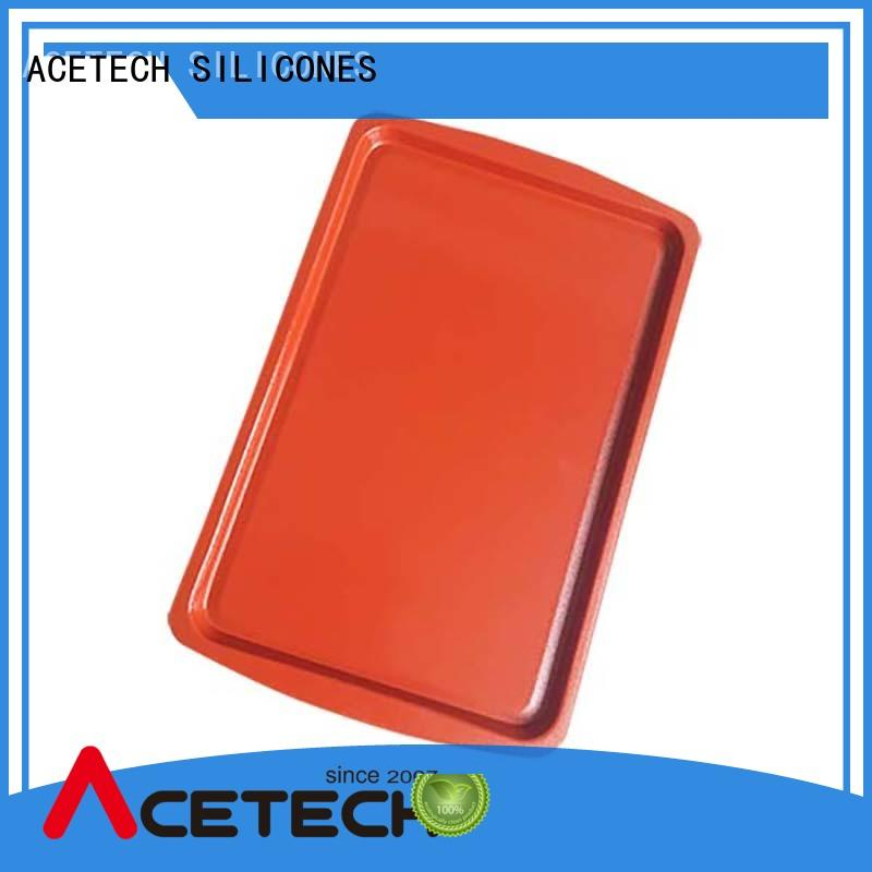 baking tray with colorful non-stick silicone coated set