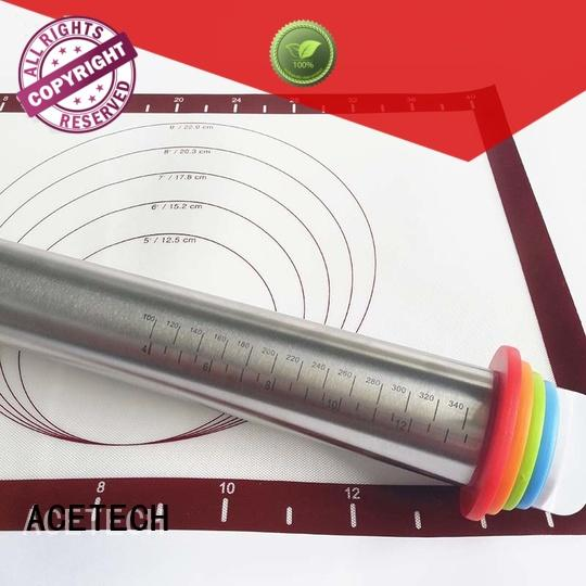 Stainless Steel Adjustable Rolling Pin With 4 Removable Thickness Rings
