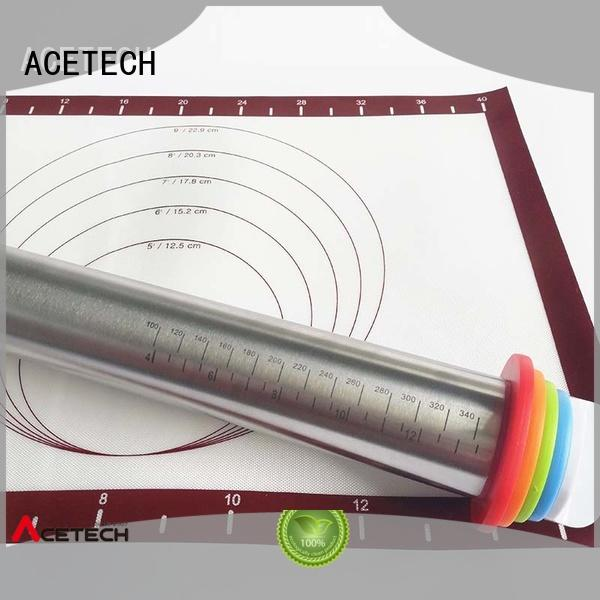 removable adjustable rolling pin manufacturer for pizza ACETECH