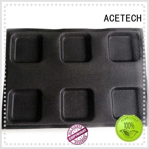 Hot Sale 6 cup Square Perforated Silicone Mold
