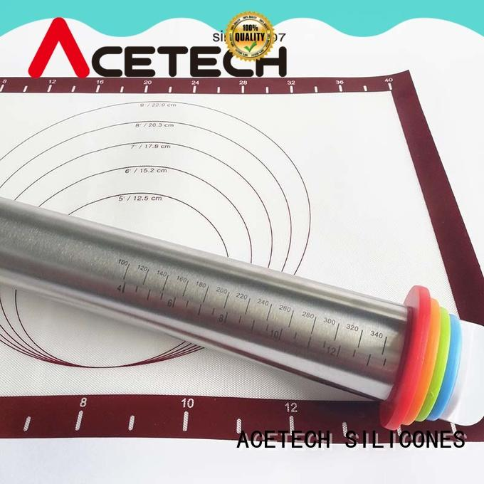 ACETECH good quality steel rolling pin design for noodles