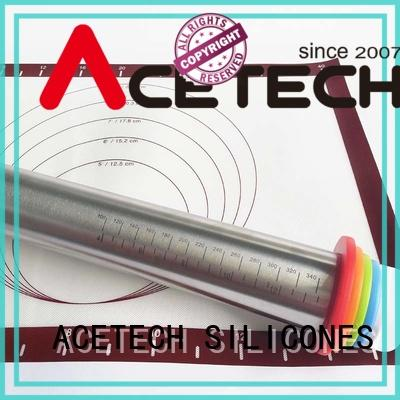 ACETECH adjustable stainless steel rolling pin design for dumpling wrapper