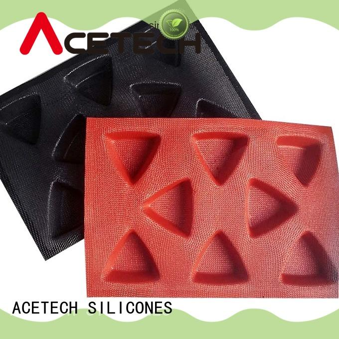 ACETECH triangle silicone cookie molds wholesale for cooking
