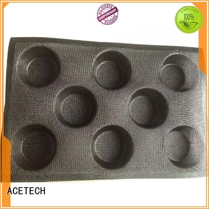 8 Cavity Round Shape 3D LFGB Silicone Pastry Mould Customized