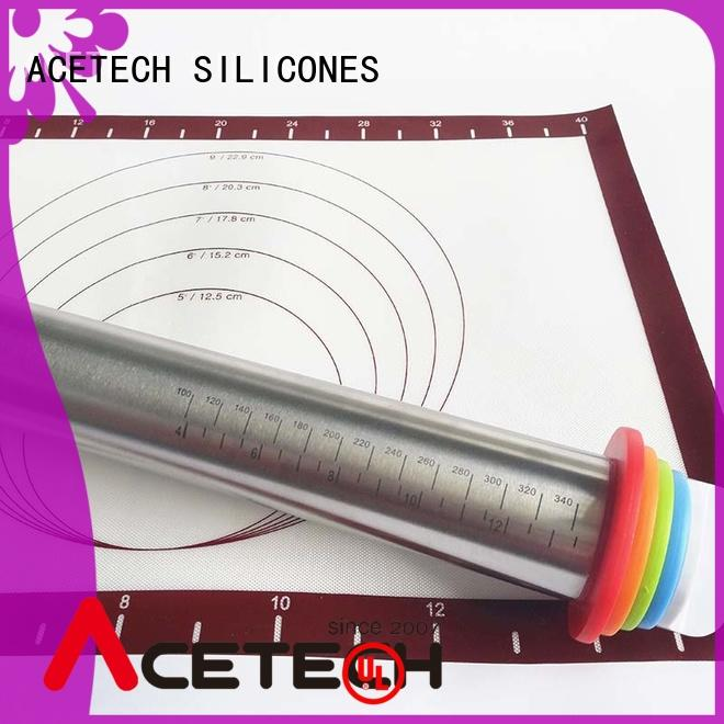 ACETECH pin stainless steel rolling pin design for dumpling wrapper
