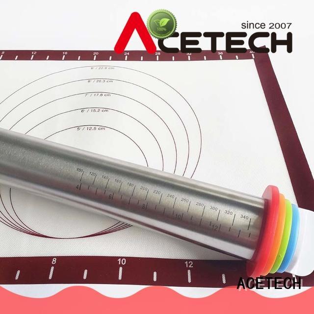 ACETECH adjustable steel rolling pin design for noodles
