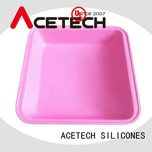 ACETECH custom silicone baking tray easy to clean for muffin
