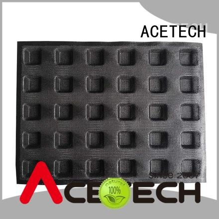 perforated cake square silicone baking molds subway ACETECH company