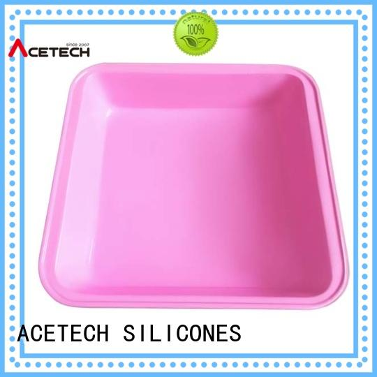 ACETECH cake square silicone baking pan directly price for cake