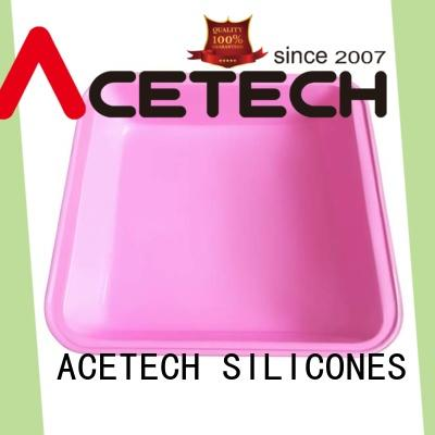 ACETECH colorful silicone baking pans easy to clean for cookie
