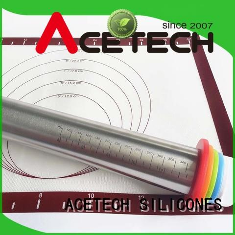 ACETECH rings stainless steel rolling pin manufacturer for dumpling wrapper