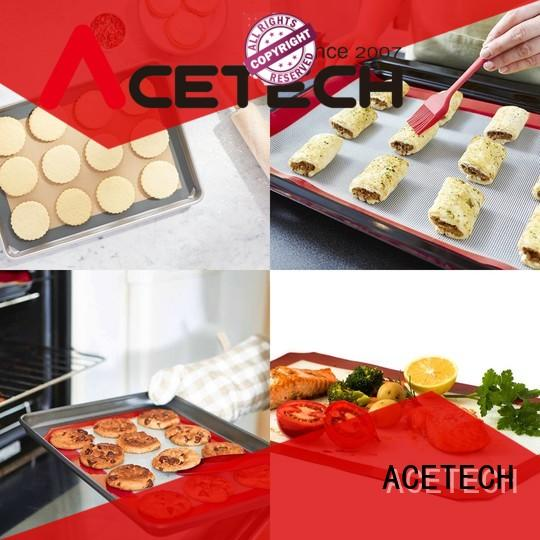 ACETECH soft custom silicone mats factory price for macarons