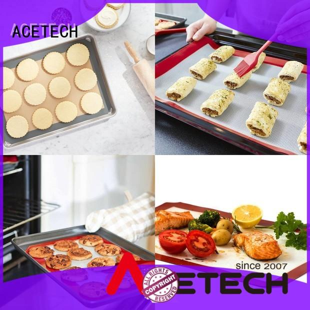 ACETECH cookie silicone baking mat easy to clean for bread