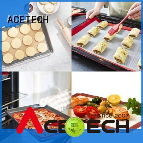 ACETECH cookie custom silicone mats factory price for bread
