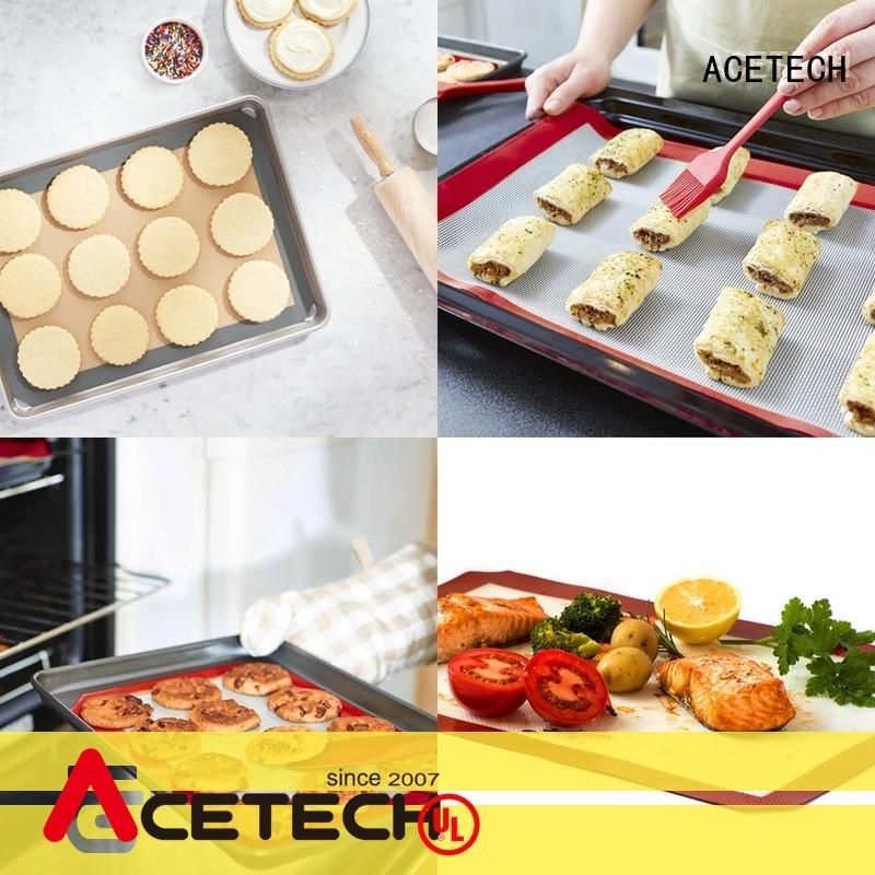 ACETECH soft custom silicone mats easy to clean for cooking