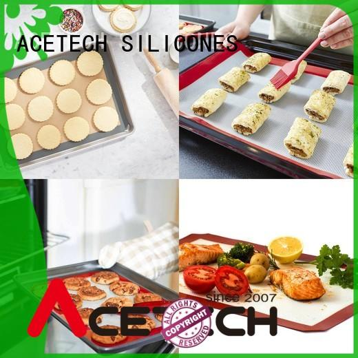 ACETECH thin non stick silicone baking mat easy to clean for cooking