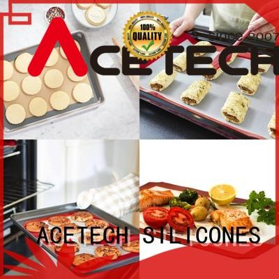 ACETECH bakeware custom silicone mats factory price for cookie