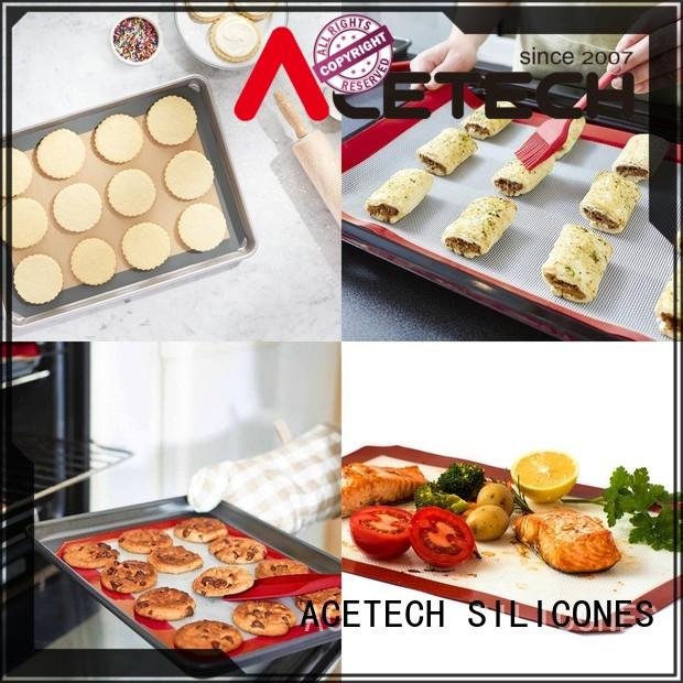ACETECH eco-friendly silicone pastry mat easy to clean for cookie