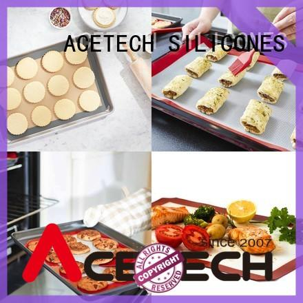 ACETECH foldable silicone baking mat factory price for macarons