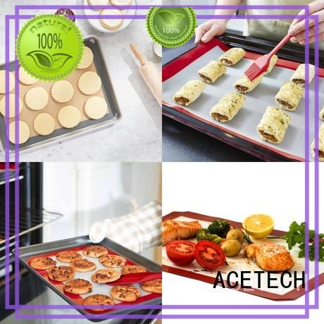ACETECH foldable silicone macaron baking mat perfect for bread