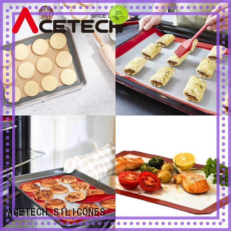ACETECH large silicone pastry mat easy to clean for cookie