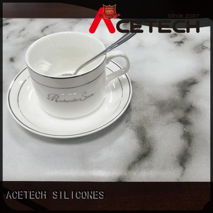 ACETECH oil resistance silicone placemats wholesale for dining room