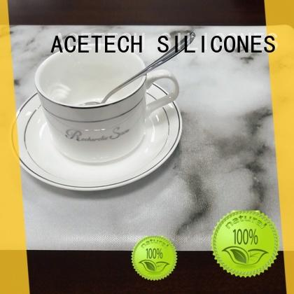 Silicone Table Mats Telfon Placemats Kitchen Dining Table Decoration (Marble)